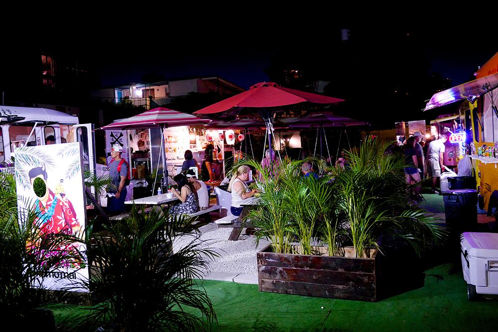 Pau Hana Market Med Wide Shot