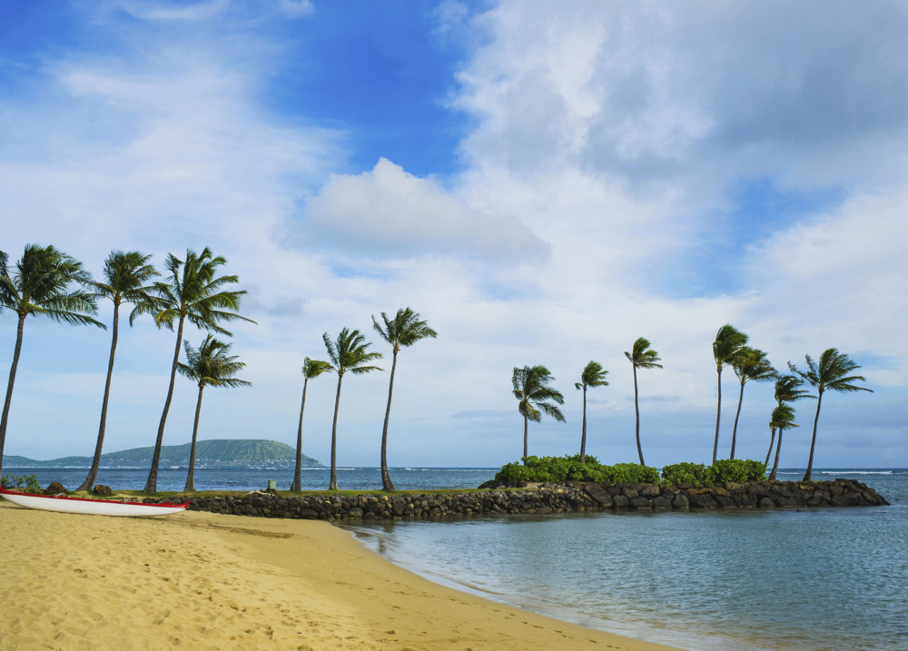View from Kahala Resort Beach, Hawaii Honolulu