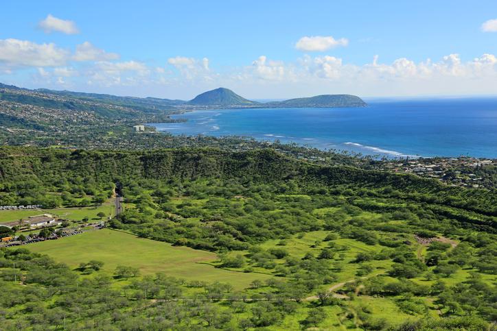 Landscape of Oahu's coast, Hawaii