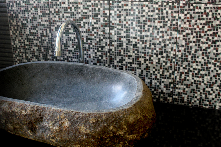Water tap made of stone